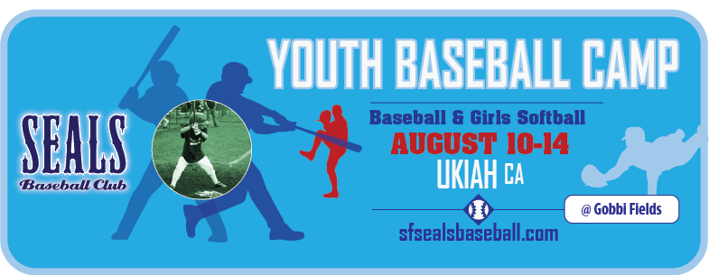 Youth Baseball and Softball Summer Camp in Mendocino: Ukiah, CA – August 10-14, 2015