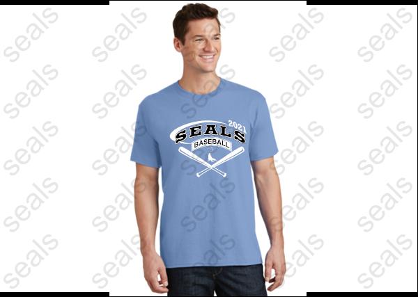 T - Shirt: Black and Blue
